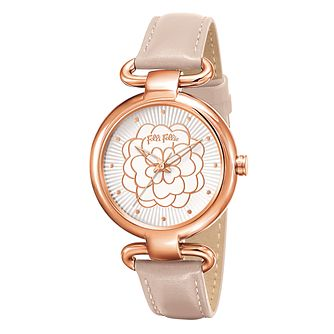 Folli Follie Ladies' Rose Gold Plated Watch - Product number 5001676