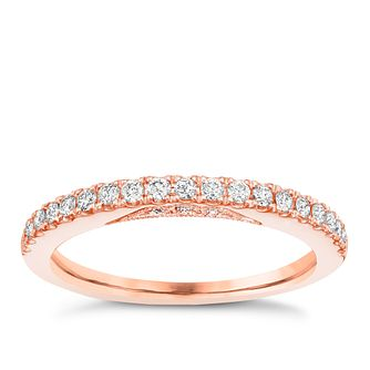Tolkowsky 18ct Rose Gold 1/4ct Diamond Wedding Ring - Product number 5003539