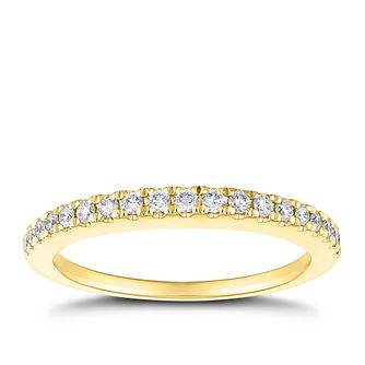 Tolkowsky 18ct Yellow Gold 1/4ct Diamond Wedding Ring - Product number 5003679