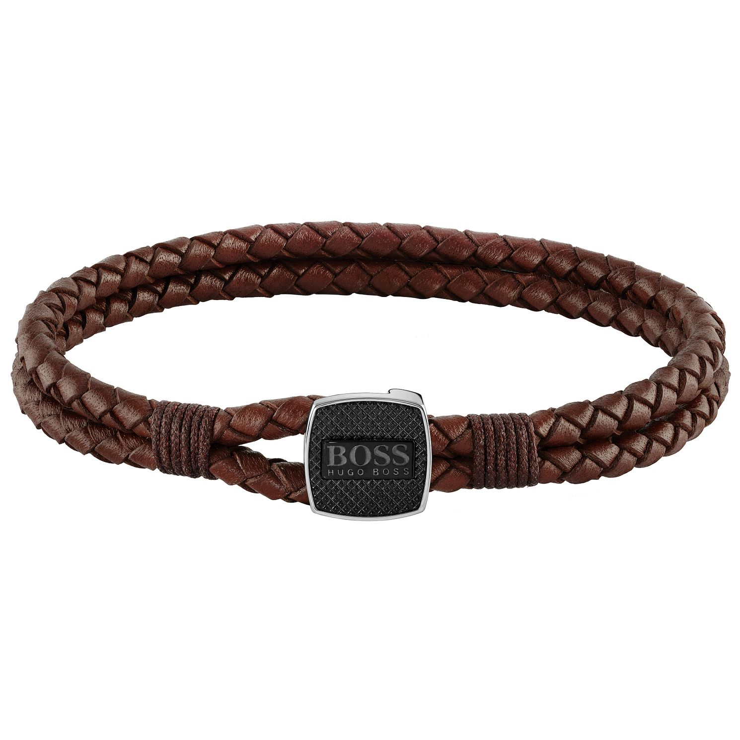 BOSS Seal Men's Brown Leather Bracelet - Product number 5004640