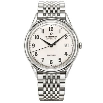 Eterna Men's Heritage Stainless Steel Strap Watch - Product number 5005051