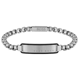 BOSS ID Men's Silicone Frame Bracelet - Product number 5005124