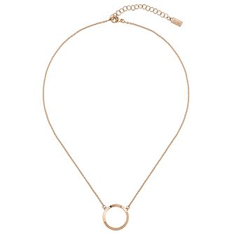 BOSS Ophelia Rose Gold Tone Swarovski Crystal Necklace - Product number 5005493