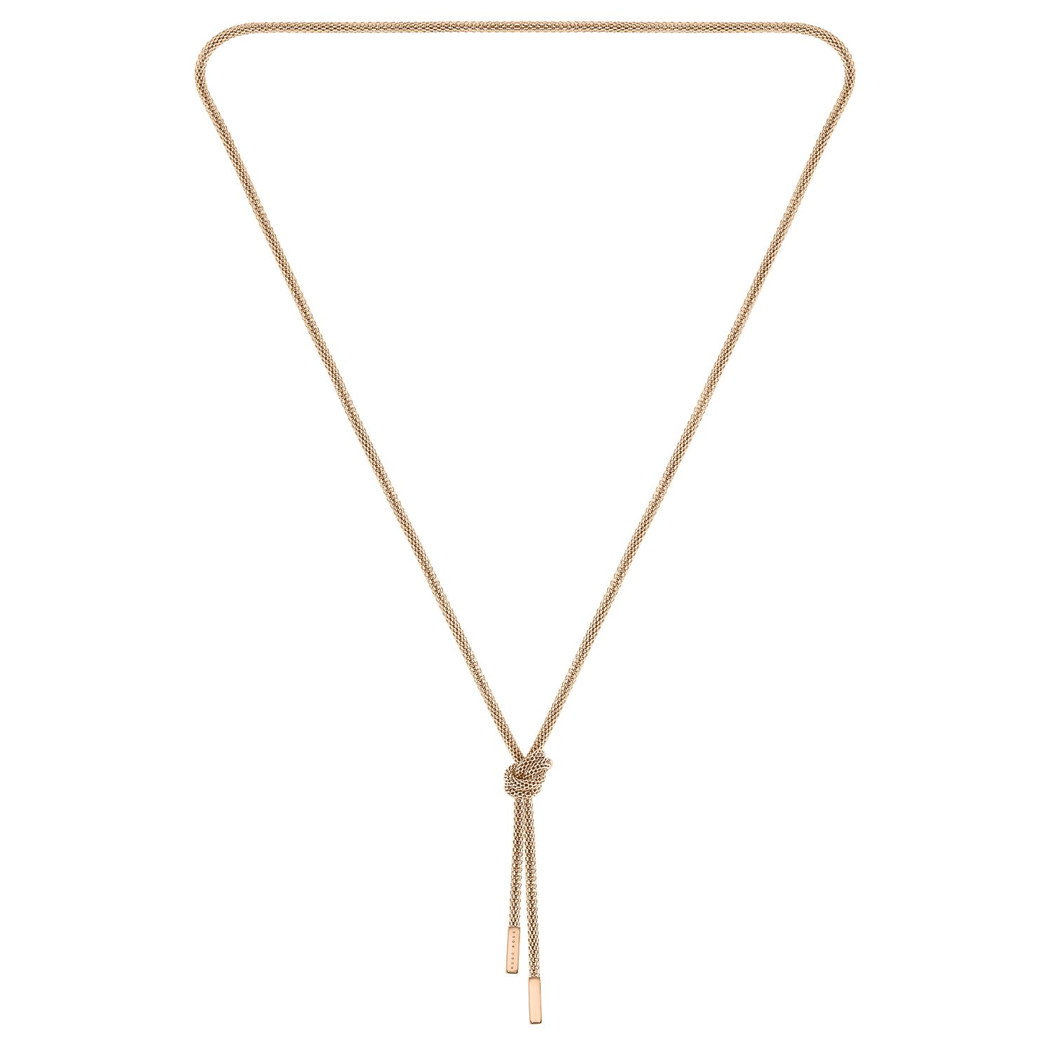 BOSS Rosette Ladies' Rose Gold Tone Necklace - Product number 5007038