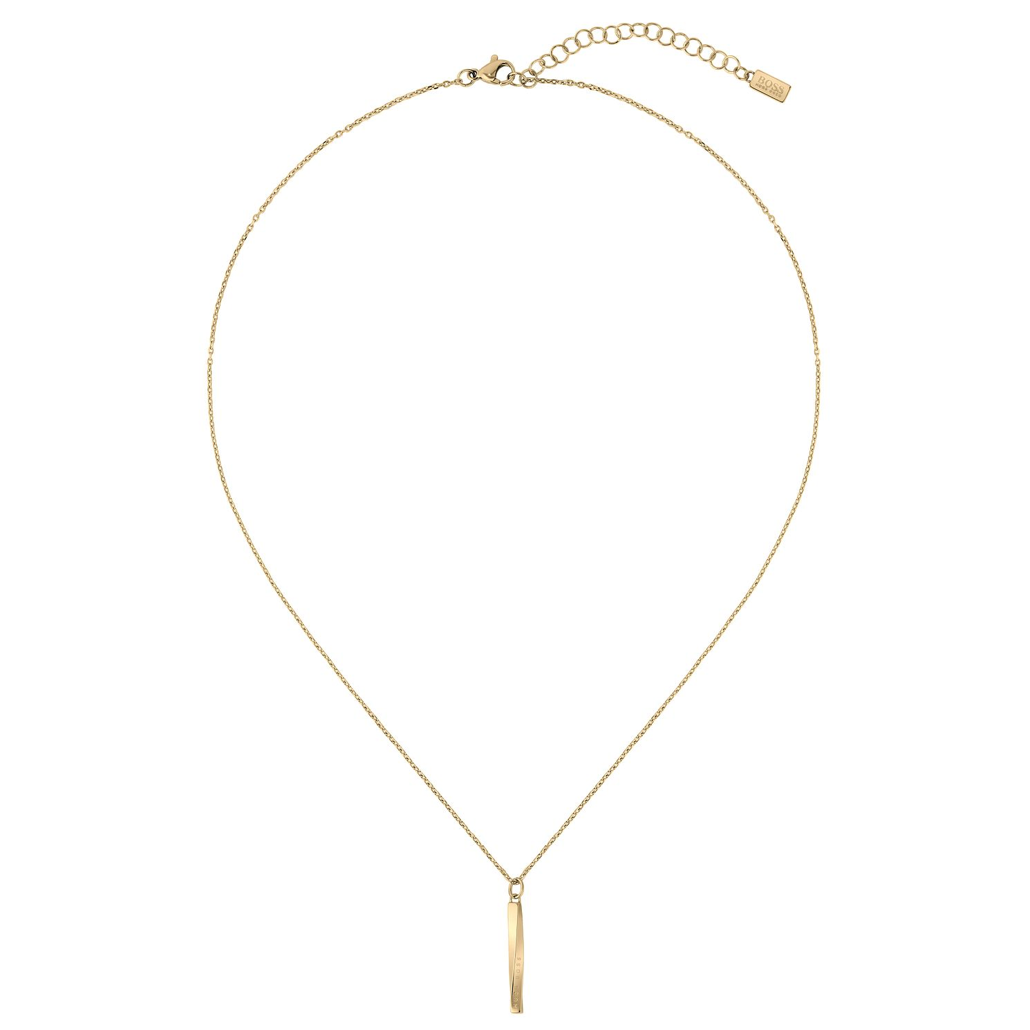 BOSS Signature Ladies'  Yellow Gold Tone Necklace - Product number 5007348
