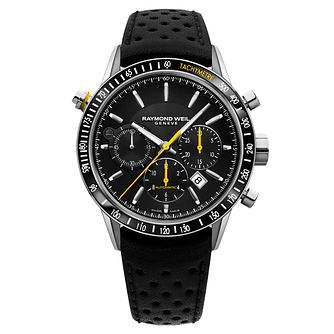 Raymond Weil Freelancer Men's Black Leather Strap Watch - Product number 5007860