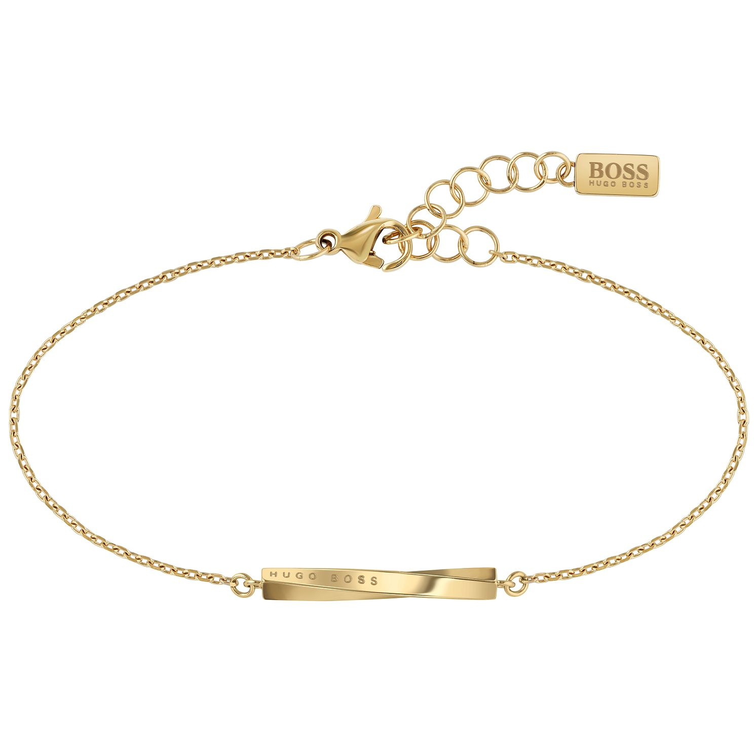 BOSS Signature Ladies'  Yellow Gold Tone Bracelet - Product number 5008158