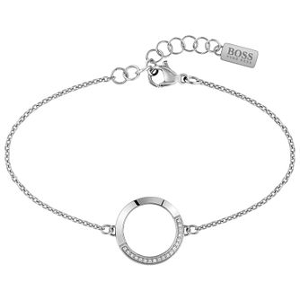 BOSS Ophelia Stainless Steel Swarovski Crystal Bracelet - Product number 5008689