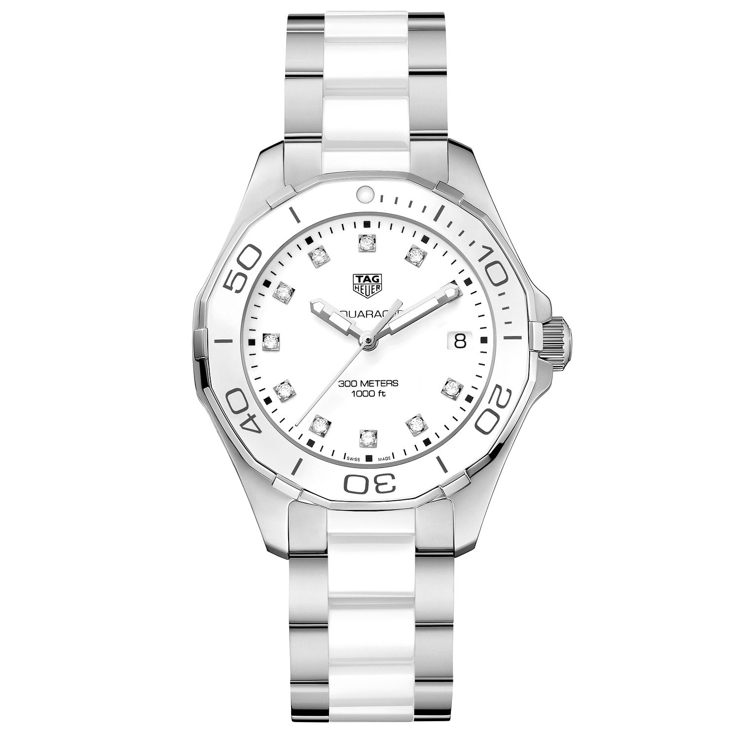 TAG Heuer Aquaracer Diamond Ladies' Two Tone Bracelet Watch - Product number 5008794
