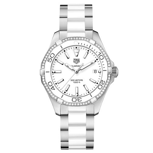 TAG Heuer Aquaracer Ladies Two Colour Diamond Bracelet Watch - Product number 5008816