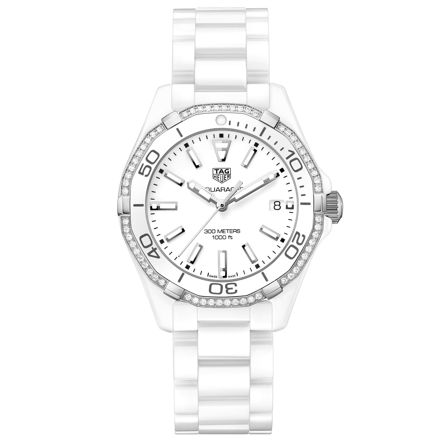 TAG Heuer Aquaracer Diamond White Ceramic Bracelet Watch - Product number 5008859