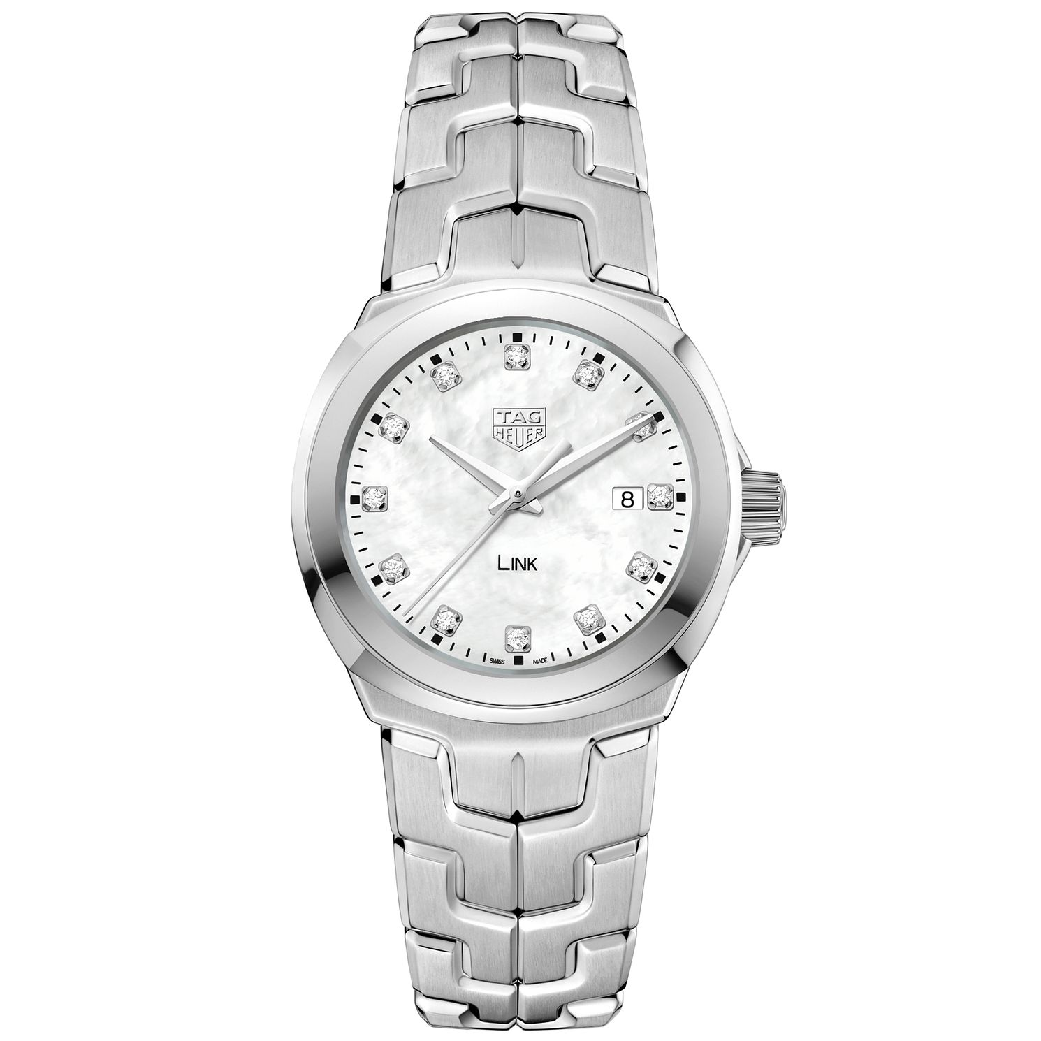 TAG Heuer Link Diamond Stainless Steel Bracelet Watch - Product number 5008883