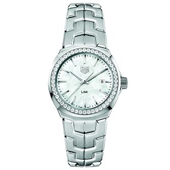 TAG Heuer Link Diamond Stainless Steel Bracelet Watch - Product number 5008905