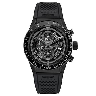 TAG Heuer Carrera Men's Black Rubber Strap Watch - Product number 5008956