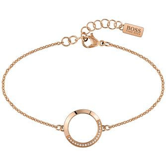 BOSS Ophelia Rose Gold Tone Swarovski Crystal Bracelet - Product number 5009049