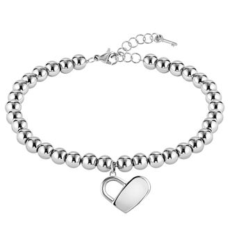 BOSS Beads Ladies' Stainless Steel Heart Bracelet - Product number 5009065