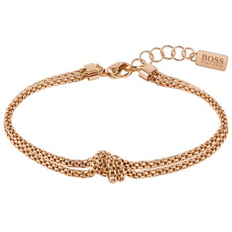 BOSS Rosette Ladies' Rose Gold Tone Bracelet - Product number 5009103