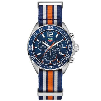 TAG Heuer Men's Formula 1 Stainless Steel Stripe Strap Watch - Product number 5009138