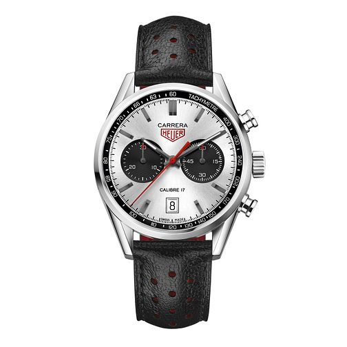 TAG Heuer Carrera Men's Black Leather Strap Watch - Product number 5009421