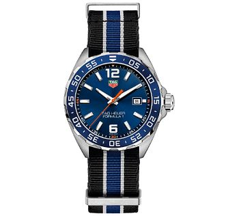 TAG Heuer Formula 1 Men's Stainless Steel Blue Strap Watch - Product number 5009499
