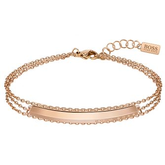 BOSS Insignia Ladies' Rose Gold Tone Chain Bracelet - Product number 5009871