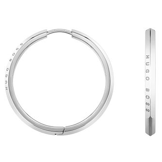 BOSS Insignia Ladies' Stainless Steel Hoop Earrings - Product number 5010543