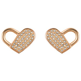 BOSS Soulmate Ladies' Rose Gold Tone Crystal Stud Earrings - Product number 5011035