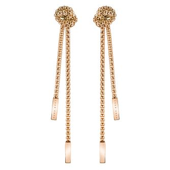 BOSS Rosette Ladies' Rose Gold Tone Drop Earrings - Product number 5011051