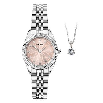 Sekonda Crystal Ladies' Watch & Necklace Gift Set - Product number 5011116