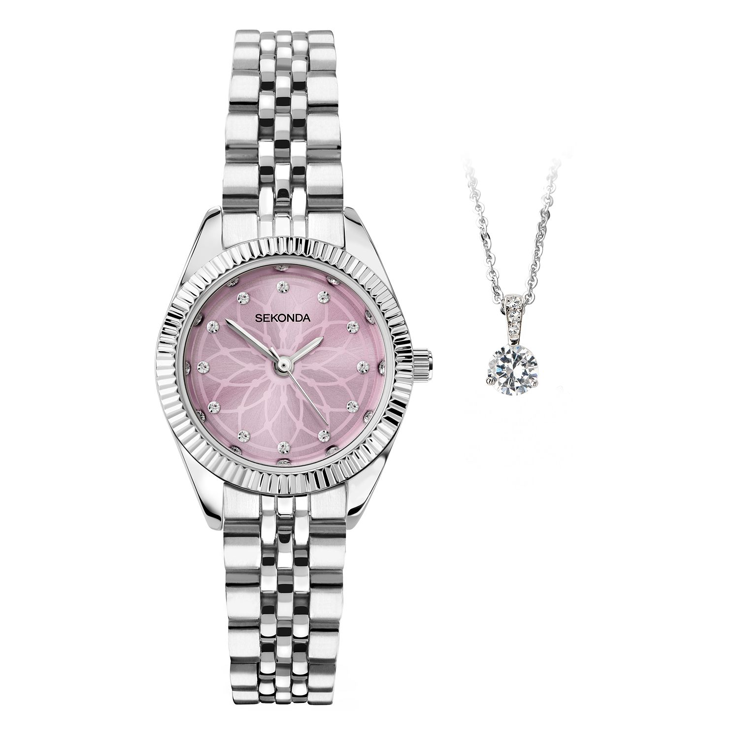 Sekonda Crystal Ladies' Watch & Necklace Gift Set - Product number 5011140