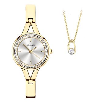 Sekonda Crystal Ladies' Watch & Necklace Gift Set - Product number 5011191