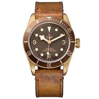 Tudor Black Bay Bronze Men's Diver Brown Strap Watch - Product number 5011205