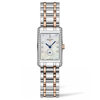 Longines Dolcevita Ladies' Diamond Two Colour Bracelet Watch - Product number 5011442