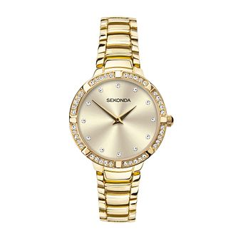 Sekonda Crystal Ladies' Gold Tone Bracelet Watch - Product number 5011612
