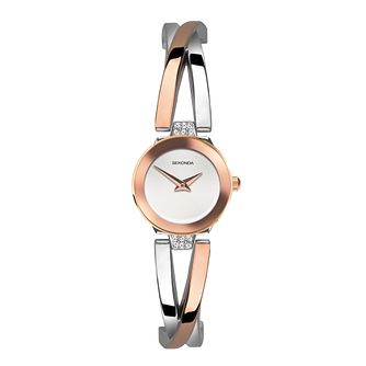 Sekonda Crystal Ladies' Rose Gold Tone Bangle Watch - Product number 5014999