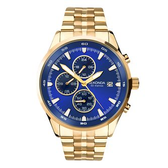 Sekonda Men's Yellow Gold Tone Bracelet Watch - Product number 5016118