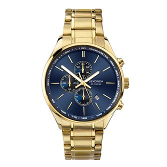 Sekonda Chronograph Men's Gold Tone Bracelet Watch - Product number 5016185