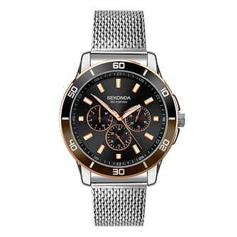 Sekonda Chronograph Men's Stainless Steel Bracelet Watch - Product number 5016193