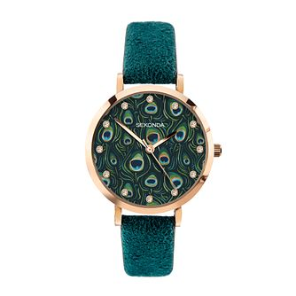 Sekonda Crystal Ladies' Green PU Strap Watch - Product number 5016282