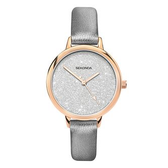 Sekonda Editions Ladies' Metallic Grey PU Strap Watch - Product number 5016312