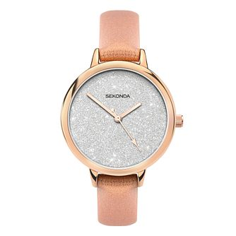 Sekonda Editions Ladies' Metallic Orange PU Strap Watch - Product number 5016320