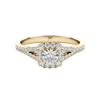 The Diamond Story 18ct Yellow Gold 1/2ct HI I1 Diamond Ring - Product number 5016614
