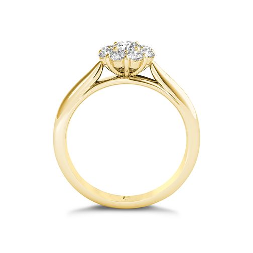 26f43a80e55 The Diamond Story 18ct Yellow Gold 1 2ct Diamond Ring - Ernest Jones
