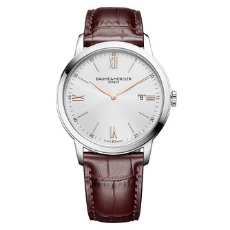 Baume & Mercier My Classima Men's Brown Leather Strap Watch - Product number 5019605