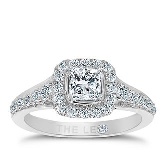 Leo Diamond Platinum 1.10ct I I1 Diamond Halo Ring - Product number 5021774