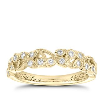 Neil Lane 14ct Yellow Gold 0.21ct Diamond Vine Wedding Band - Product number 5025451