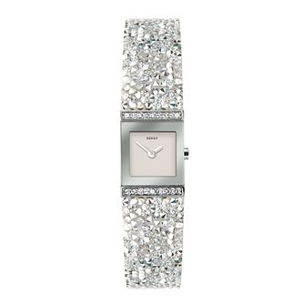 Seksy Rocks White Swarovski Crystal Bracelet Watch - Product number 5028280