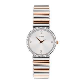 Seksy Crystal Stainless Steel Bracelet Watch - Product number 5028310