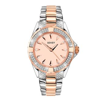 Seksy Crystal Ladies' Two Tone Bracelet Watch - Product number 5028337