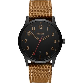 MVMT GTS Men's Tan Nylon Canvas Strap Watch - Product number 5028582